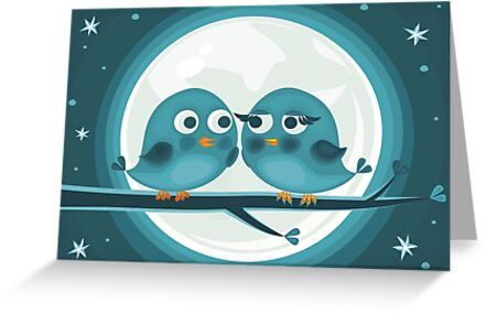birds against the moon by Anastasiia Kucherenko