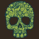 Flowery Skull by KimberlyMarie