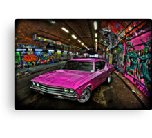 Pink Pimp Chev Canvas Print