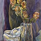 Still life with dried roses by Svetlana Mikhalevich