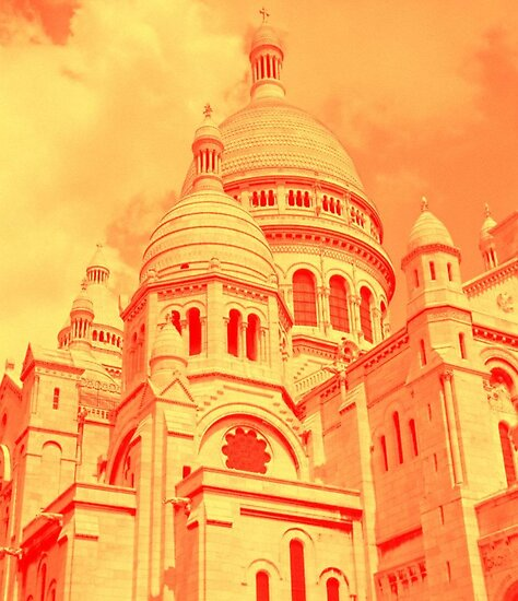 Sacre Coeur in Orange by Davies72