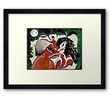 LOVE AT FIRST BITE./ music..love the night life!!!yeeks Framed Print