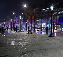 Snow on Champs-Élysées by Alexander Davydov