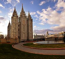 Salt Lake Temple - Reflecting Pool by Ryan Houston