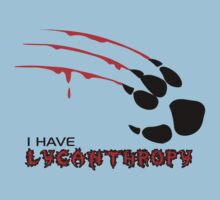 I HAVE LYCANTHROPY Werewolf Canine Paw Claw by 2ndvenus