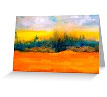 Landscape Abstract...Fantaisie Greeting Card