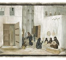 Symbols on the wall (4) - mural in old Al Mukalla (card 2) by Marjolein Katsma