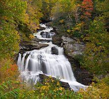Cullasaja Falls - Autumn Waterfall by Dave Allen