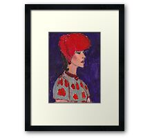 Red Hat Woman No #2 1940's Framed Print