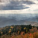 Blue Ridge Parkway Rays of Light - Forever by Dave Allen