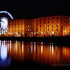 Wheel of Liverpool and the Albert Dock, by night. by Ian Moran