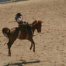 rodeo rider by footsiephoto