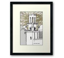 San Xavier Mission East Tower Framed Print