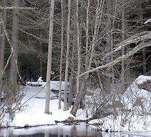 Quiet Winter Scene in Pennsylvania by Laurel Haarer