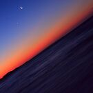 ocean, crescent , star, and me by RONI PHOTOGRAPHY