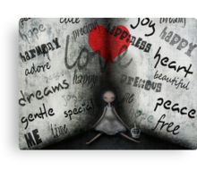 Words from the heart Canvas Print