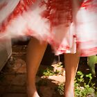 Red shoes, red dress by Elana Bailey