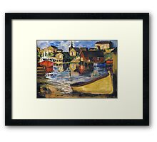 Peggy's Cove Dingy Haul out Framed Print