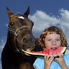 Sharing Watermelon With My Friend! by Gabrielle  Lees