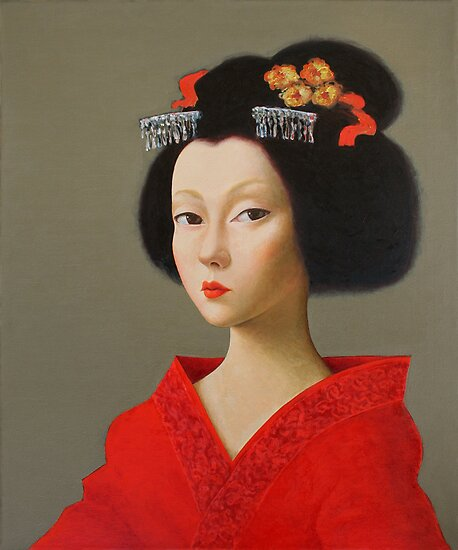 Portrait of a Geisha (3). by ipalbus-art