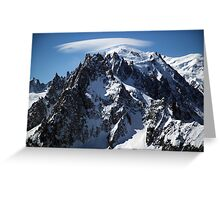 White Cap:  The Summit of Mont Blanc Greeting Card