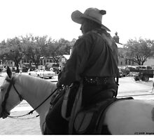 Fort Worth Stock Yards 3 -- Cowboy #1 by policegirl01