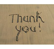 Thank You! Photographic Print