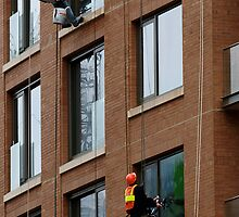 Window Washers....City Life by Jan  Tribe