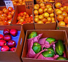 Produce in Chinatown Philadelphia by Elizabeth Hoskinson