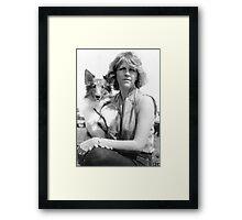 My Sheltie & Me (Digital Charcoal Sketch) Framed Print