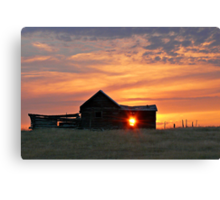 Montana Sunset Canvas Print