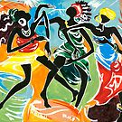 African Dancers No. 3 - Rhythm, Rhythm, Rhythm... by Elisabeta Hermann