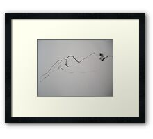 Lying Nude 2 Framed Print