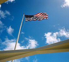 American Flag - USS Arizona by Oksana Fox