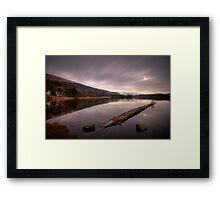 Loch Ard... two minute ciggy break!! Framed Print
