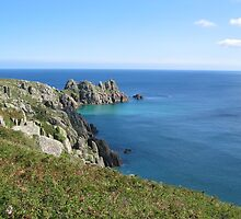 Treen cliffs, near Land's End, Cornwall by emgracelife