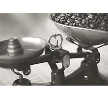 Weighing up Coffee Photographic Print