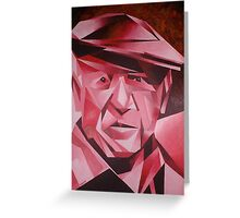 Cubist Portrait of Pablo Picasso: The Rose Period Greeting Card
