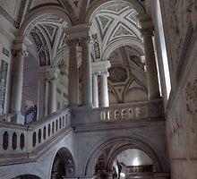 Lo Scalone d'ingresso del Monastero dei Benedettini, Catania by Andrea Rapisarda