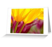 Yellow Glow Greeting Card