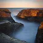 Sunlit Rock - Narrabeen by Andrew Kerr