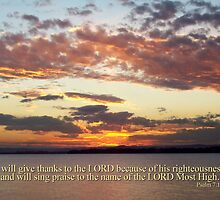 ~ Psalm 7:17 ~ by Donna Keevers Driver