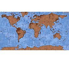 Psychedelic mappemonde Photographic Print