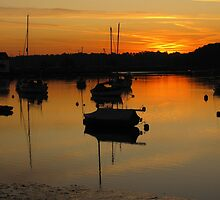 Dawn on the Deben, Suffolk by wiggyofipswich