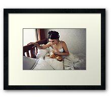 Pat the cat Framed Print
