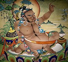 virupa. wall painting, northern india by tim buckley   bodhiimages