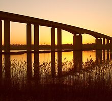 Dusk Under the Orwell Bridge, Ipswich by wiggyofipswich