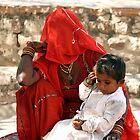 mother & child. by debjyotinayak