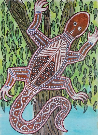 Like A Goanna Up A Tree by PhoenixArt