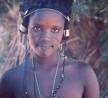 Fulani Girl on Market Day, Tahoua, Niger by Valarie Napawanetz